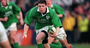 Brian O'Driscoll in action for Ireland in the 2000 Six Nations tournament, the year of his famous hat-trick of tries against France at the Stade de France in Paris. Photograph: Patrick Bolger/Inpho