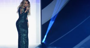 Beyoncé performs at The Brit Awards 2014 in London last month. Photograph: Ian Gavan/Getty Images