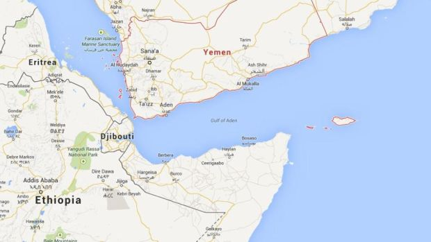 At least 42 illegal African migrants drowned in the Arabian Sea off the southern coast of Yemen late yesterday. Image: Google Maps