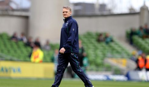 Ireland head coach Joe Schmidt before the game. Photograph: Dan Sheridan/Inpho