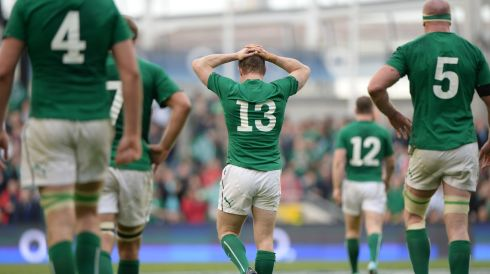 Lucky 13? That's BOD at centre, wearing that number. No, it was all down to hard work. Photograph: Dara Mac Dónaill/The Irish Times