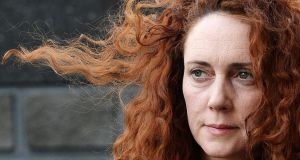 Former chief executive of News International, Rebekah Brooks arrives at the Old Bailey Central Criminal Court in central London, this morning. Brooks and former News of the World editor Andy Coulson are among eight people who are facing a range of charges during the trial, including conspiracy to intercept voicemails and phone hacking. Photograph: Andy Rain/EPA
