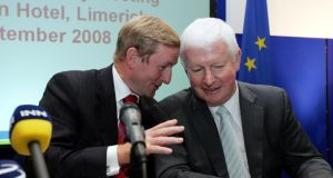 A file image of Taoiseach Enda Kenny with Frank Flannery. Photograph: Eric Luke/The	Irish Times