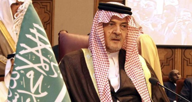 Saudi Arabia's foreign minister Prince Saud al-Faisal attends  an Arab foreign ministers emergency meeting to discuss the Syrian crisis  at the Arab League headquarters in Cairo yesterday. Photograph: Reuters