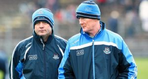 Dublin manager Anthony Daly and selector Richie Stakelum. Photograph: Ken Sutton/Inpho