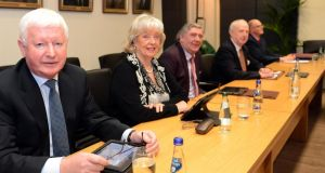 Frank Flannery at a Rehab board meeting with Noreen Gildea, Padraig Lydon, Hugh Governey, and Keith Poole. Photograph: Eric Luke