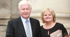 Frank Flannery  with Rehab chief executive Angela Kerins. Photograph: Collins Courts