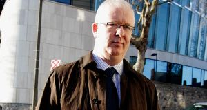 Con Horan, former prudential director at the Financial Regulator's office leaves the Circuit Criminal Court in Dublin. Photograph: PA