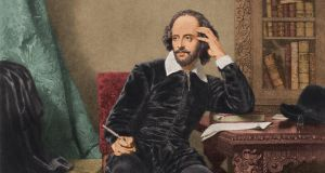 Circa 1600, English dramatist and poet William Shakespeare (1564 - 1616) ponders his next work. (Photo by Stock Montage/Getty Images)