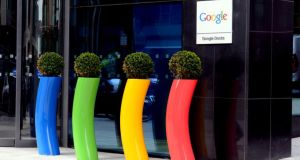 Google's offices on  Barrow Street in Dublin. Photograph: Cyril Byrne/The Irish Times