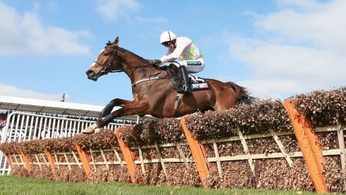 Vautour ridden by Ruby Walsh on their way to winning the Sky Bet Supreme Novices' Hurdle.Photograph: David Davies/PA Wire