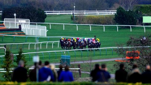 A general view of the Mares' Hurdle Race, won by Quevega. Photograph: Alan Crowhurst/Getty Images