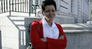 Christine Buckley at Government Buildings for talks between religous orders and the Government in 2009. Photograph: Collins