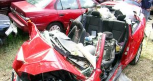 Wreck: a Chevrolet Cobalt whose driver was killed in a crash linked to a manufacturing defect. Photograph: NHTSA/New York Times