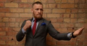Conor McGregor, wearing Louis Copeland, at Kelly's Hotel, South Great George's Street in Dublin. Photograph: David Sleator