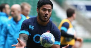 Leicester's Manu Tuilagi has been recalled to the matchday 23 for England's Six Nations finale against Italy in Rome. Photograph:  David Rogers/Getty Images.