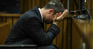 Oscar Pistorius  in Pretoria High Court yesterday. Photograph: Kevin Sutherland/The Times/Gallo Images