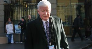 Frank Flannery pictured at Leinster House last month: Rehab said details of how much he was paid would be contained in the charity's annual accounts, which have yet to be released. Photograph: Gareth Chaney/Collins