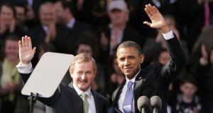 Taoiseach Enda Kenny starts his annual St Patrick's Day visit to the United States today during which he will meet US president Barack Obama at the White House tomorrow morning. Photograph: Alan Betson /The Irish Times