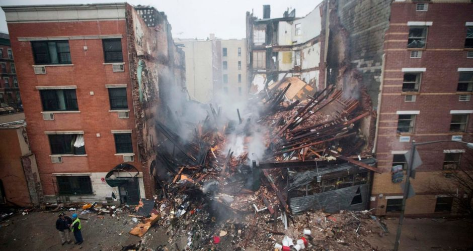 Collapse of buildings in New York