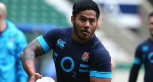 Manu Tuilagi has been named on England's bench for the Six Nations match away to Italy on Saturday. Photograph:  David Rogers/Getty Images