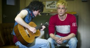 Band substance: Diarmuid Noyes and Killian Scott in 'Good Vibrations', which made some impact on the Irish box office in 2013; none of the films in the top 10 was Irish