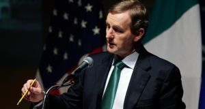 Taoiseach Enda Kenny addresses the US Chamber of Commerce in Washington today. Photograph: Gary Cameron/Reuters