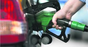 Petrol fell by 4.9 per cent annually, according to figures from the Central Statistics Office. Photograph: Dara Mac Dónaill