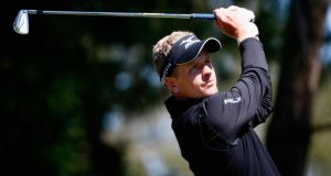 Luke Donald of England plays a shot on the seventh hole during the first round of the Valspar Championship at Innisbrook Resort  in Palm Harbor, Florida. Photograph:  Sam Greenwood/Getty Images