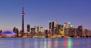 Canadan cities such as Toronto (pictured) have become an increasingly popular destinations for Irish emigrants in recent years. Photograph: Getty Images