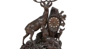 Swiss Black Forest mantel clock, €2,600 (€800-€1,200) at Adam's