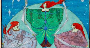 The Elf Hill by Harry Clarke. Courtesy of the National Gallery of Ireland