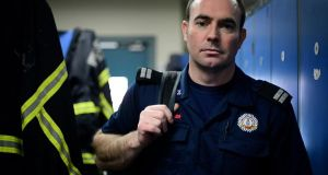 Best medical care: advanced paramedic Colm Murphy of Dublin Fire Brigade. Photograph: Bryan O'Brien