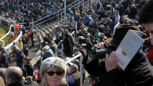 The atmosphere builds as the stands fill at Prestbury Park. Photograph: Tim Ireland/PA