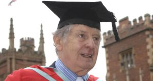 Jimmy Ellis when he received an honorary degree at Queen's University in Belfast.  Photograph  : Stephen Wilson/PA Wire