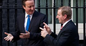 'If one side can arbitrarily change the terms of agreed co-operation on energy, is it worth the effort involved?'. Above, British Prime Minister David Cameron and  Taoiseach Enda Kenny  outside No  10 Downing Street, London, this week.  Photograph: Andrew Cowie/AFP/Getty Images