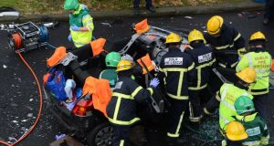 MEPs say the new system will better enable emergency services to reach accidents within the 'golden hour'.	Photograph: Cyril Byrne / The Irish Times