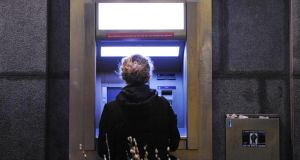 A number of banks have reissued cards to customers after   skimming machines were found on ATM machines in recent weeks. Photograph: Aidan Crawley/The Irish Times