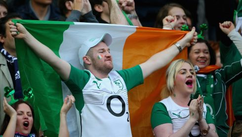 Ireland fans in Stade de France prior to the game.  Photograph:  Julian Finney/Getty Images