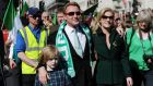 Michael Flatley and Niamh O'Brien lead the  annual St Patrick's Day Festival as it passes from Piccadilly to Trafalgar Square through Haymarket in London today. Photograph: Stuart C. Wilson/Getty Images