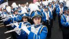 Winners of the best international band, the Acton-Boxborough Regional High School Marching Colonials from Massachusettes, USA. Photograph: Alan Place/FusionShooters.