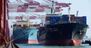 Cargo ships at Qingdao port in China: the export-oriented growth model pursued by many emerging economies needs to be rebalanced. photograph: reuters