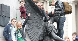 The St Patrick's parade in Dublin today. Photograph: Cyril Byrne / THE IRISH TIMES