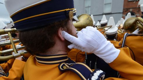 A brass band at the St Patrick's Day  parade in Dublin. Photograph: Cyril Byrne / THE IRISH TIMES