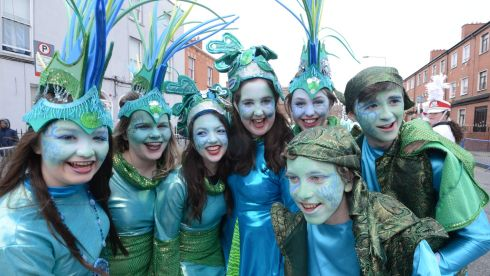 Enjoying the parade in Dublin. Photograph: Cyril Byrne / THE IRISH TIMES