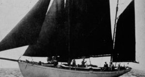 The Asgard out on the water in 1932. Photograph from Pat Murphy