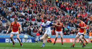 St Vincent's Diarmuid Connolly scores his second goal  against Castlebar Mitchels. Photograph: Cathal Noonan/Inpho
