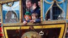 Dublin Lord Mayor Oisín Quinn, with his children Alannah (10), Eoghan (14) and Hugh (8), at the St Patrick's Day parade in Dublin. Photograph: Eric Luke/The Irish Times