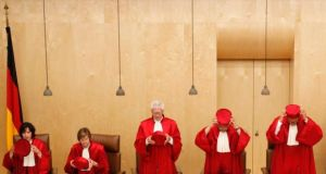 Judges of the German constitutional court. Photograph: Reuters