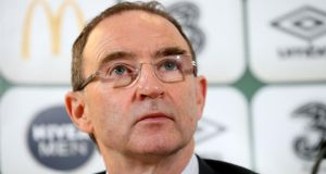 Republic of Ireland manager Martin O'Neill . Photograph: Ryan Byrne/Inpho